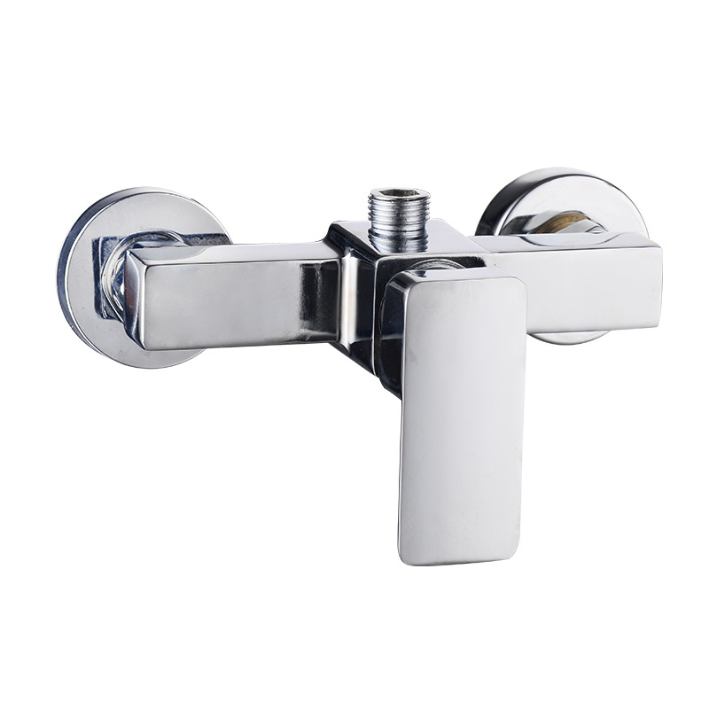 Chrome Polished Wall Mounted Bathroom Mixer Tap Bath Tub Valve Shower Faucets Single Handle Cold And Hot torneira cozinha