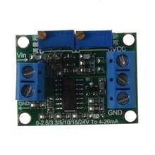الجهد إلى جهاز بث إشارة الحالية 0 3.3/5/10/15 فولت إلى وحدة 4 20mA