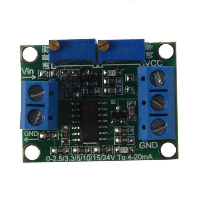 Transmisor de señal de voltaje a corriente 0 3,3/5/10/15 V a 4 20mA módulo