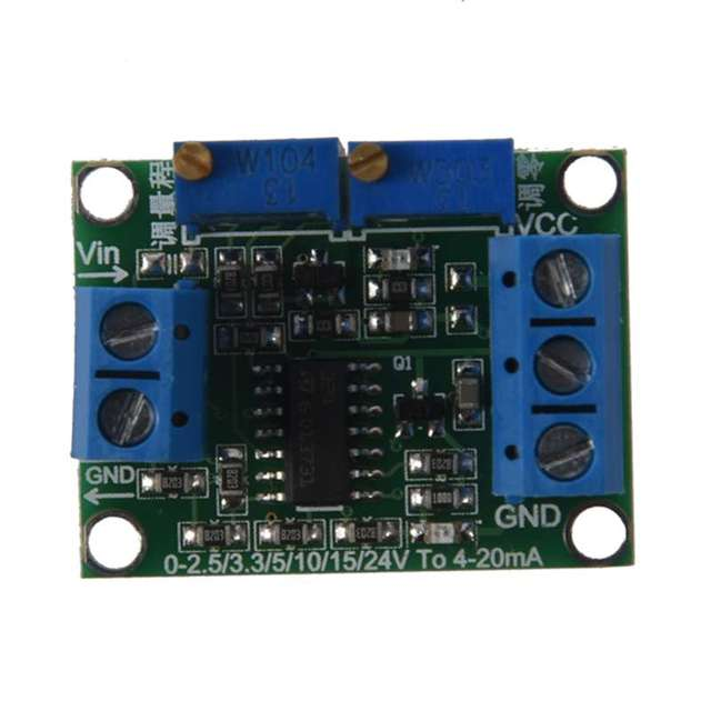Voltage to Current Signal Transmitter 0 3.3/5/10/15V to 4 20mA Module