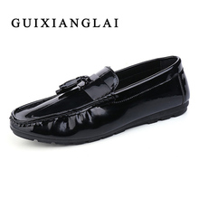 Man Loafers Moccasin Flats Men's loafers designer shoes male genuine leather fashion boat shoes luxury brand Dress Loafer SHoes