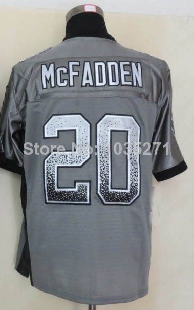 Wholesale Price #20 Darren McFadden Jersey,Lights Out Grey,Lights Out Black,Top Quality Jerseys,Embroidery Logos