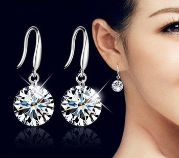 2020 Fashion jewelry 925 silver Earrings Female Crystal from Swarovskis New Woman name earrings Twins micro set 1
