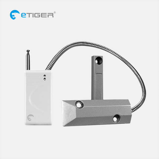 eTIGER ES-D4F long distance Wireless Metal Rolling Door window Magnetic Contactis compatible with every eTIGER Secual system