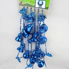 Hot 2019 Factory directPlastic plating Christmas leaves windy bells chain pendant beads series Irish festival decorations