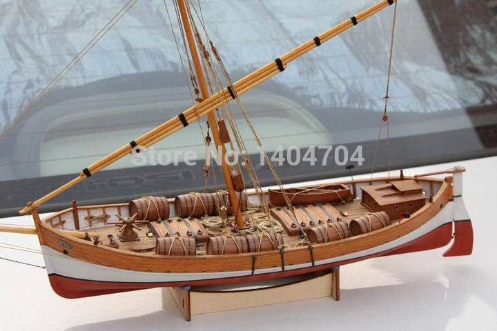 NIDALE Model Sacle 1 48 classical Ancient Sailboat model kit Mediterranean LEUDO 1800 1900 Ship Wooden