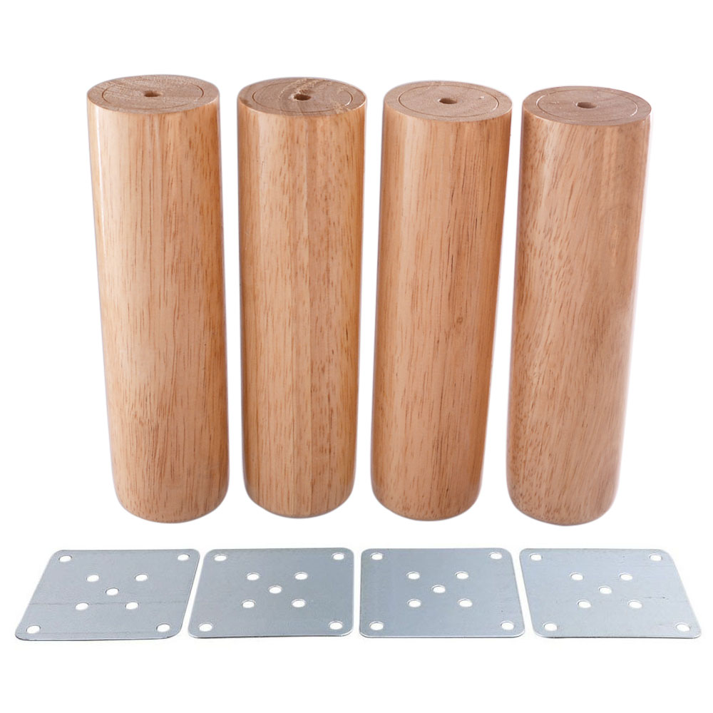 5x18CM Round Wooden Material Sofa Chair Bed Cupboard Tea Table TV Cabinet Furniture Legs Feet Pack Of 4 In Cups From Home Improvement On