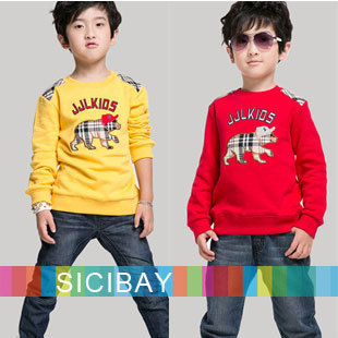 Fashion Kids Clothes Boys Casual Tops Baby Cardigans Children Hoodies Girls Sweatshirts Cartoon Pig  Tshirt,Free Shipping  C0266