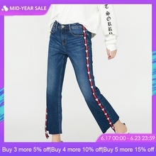 ONLY Women's Spring & Summer 2019 Loose Straight Fit Flared Crop Jeans |118149511