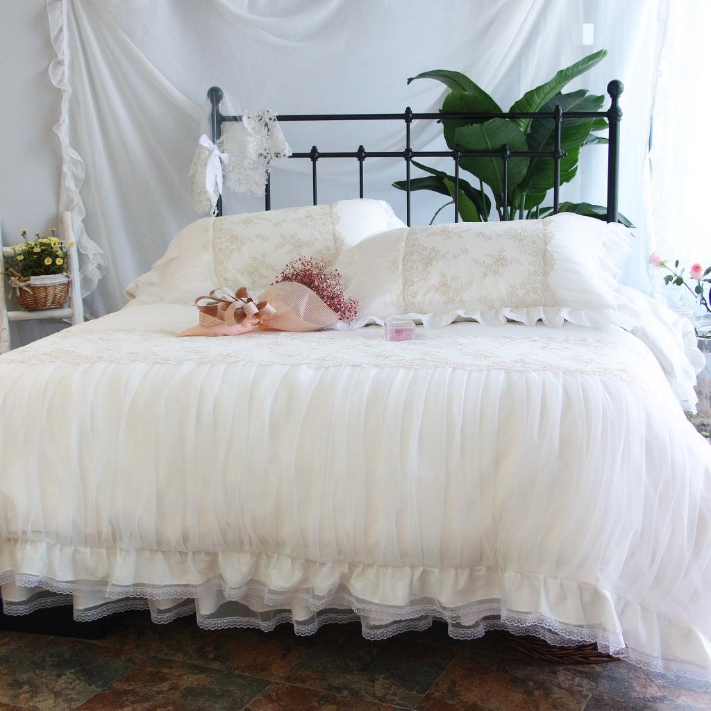 Европейский Американский пример комнаты дизайн постельные принадлежности хлопок принцесса Стиль Домашний текстиль мебельные магазины по