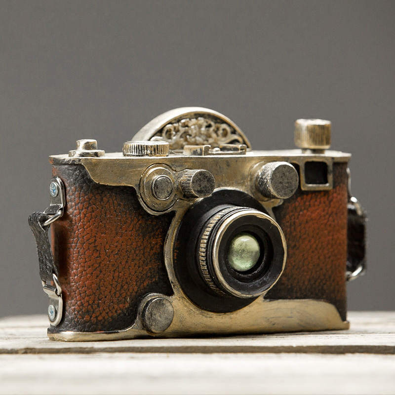 Creative Retro Vintage Handmade Old Fashion Resin Camera Ornament Do Old Cameras for Home Bar Decoration Camera Prop