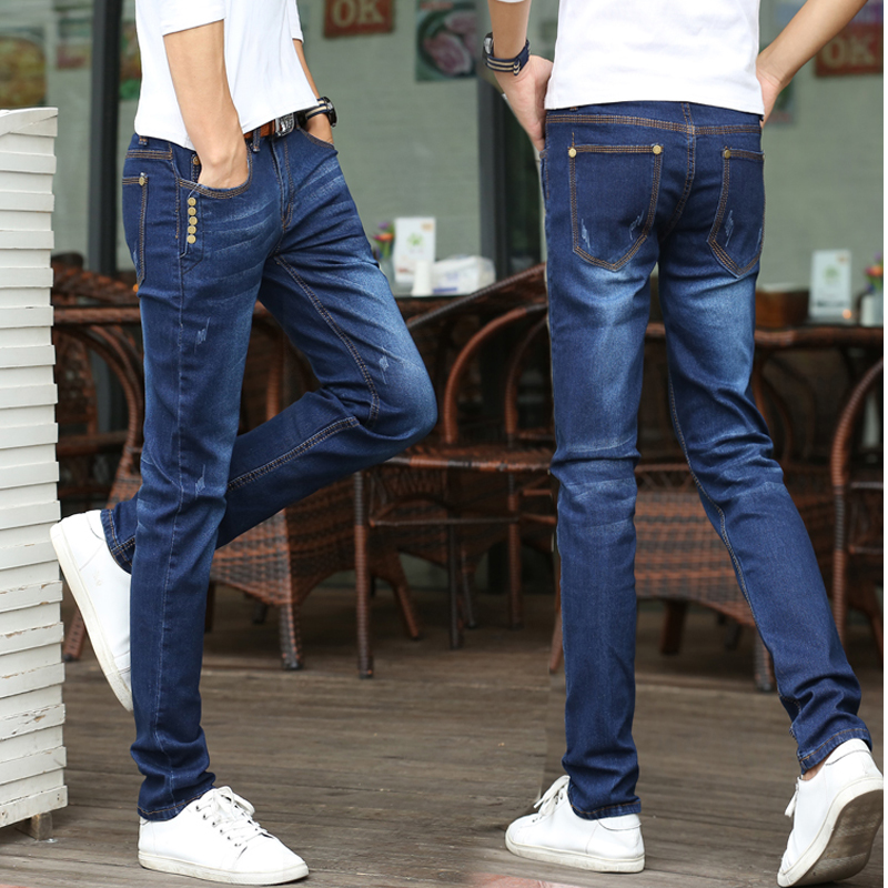 2017 Men's student  Jeans  Fashion Brand Jeans Large sales of Spring Summer Jeans Fashion Slim Jeans men's trousers