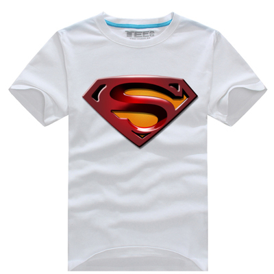 2016 Promotion Limited Superman <font><b>Spiderman</b></font> <font><b>Costume</b></font> Men And Women Sweethearts Outfit Sundress Pure Cotton Short Sleeve <font><b>T-shirt</b></font>