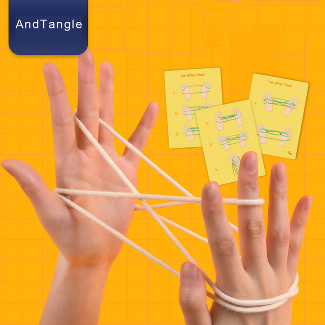 Cats Cradle String String Hand Game Finger String Toy Supplies toys for children USA Warehouse