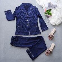 Silk Long Sleeve Pajamas for Women