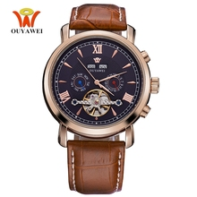 Top Brand OYW Fashion Luxury Mechanical Watch Men Wristwatches Business