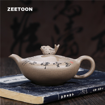 180cc Authentic Yixing Teapot Yuhu Zen Heart Pot Purple Clay Tea Pot Teaware Tea Maker Chinese Tea Set Kettle Vintage Home Decor