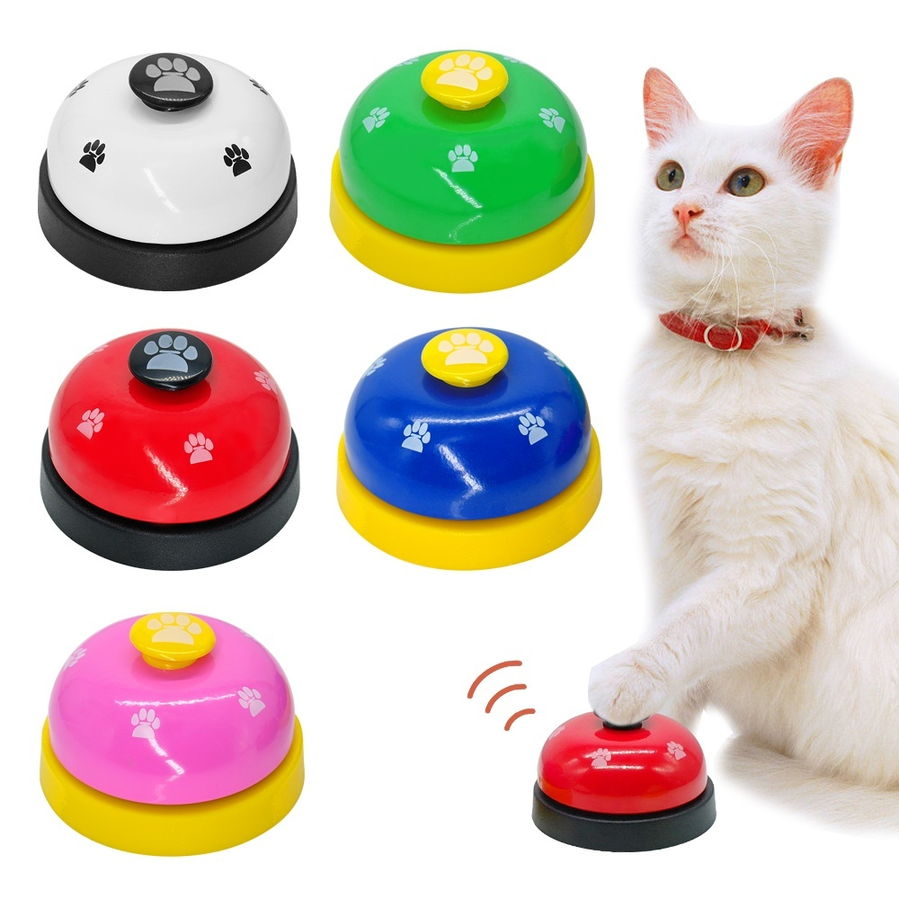 OLN Dog Ring Machine Training Dog Machine Pet Trainer Metal Ring Bell Cat Dog Order Bell Dog Footprint Intelligent Toy