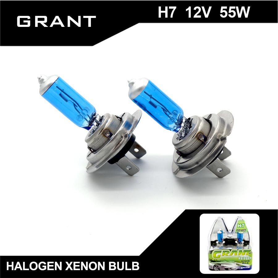 GRANT 2Pcs H7 DC12V 55W 5000K Halogen Xenon Bulbs Pure White Auto Headlights Lamps For Ford Benz BMW Audi VW Nissan Mazda Buick