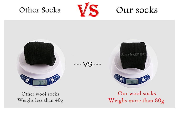 3x Men's Merino Wool Socks Warm Winter 12