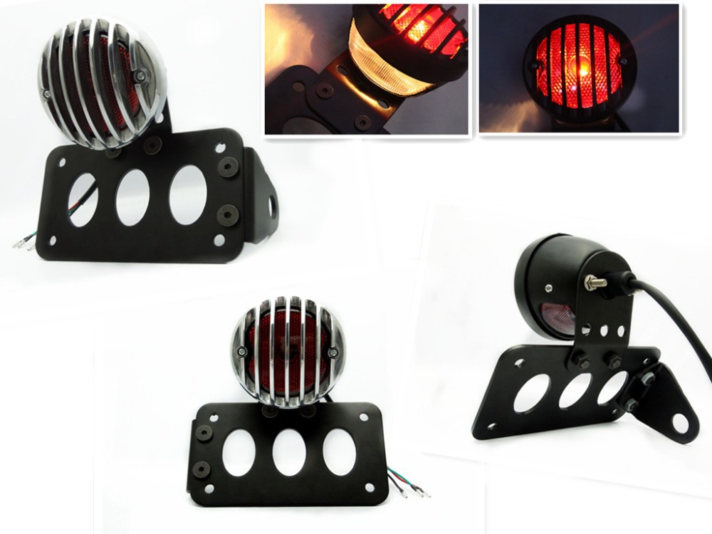 ФОТО GRILL COVER BRAKE TAIL LIGHT+ SIDE MOUNT LICENSE PLATE BRACKET 3/4
