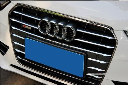ФОТО High quality stainless steel 12pcs Front grill decoration bright trim for Audi A4L 2013-2016