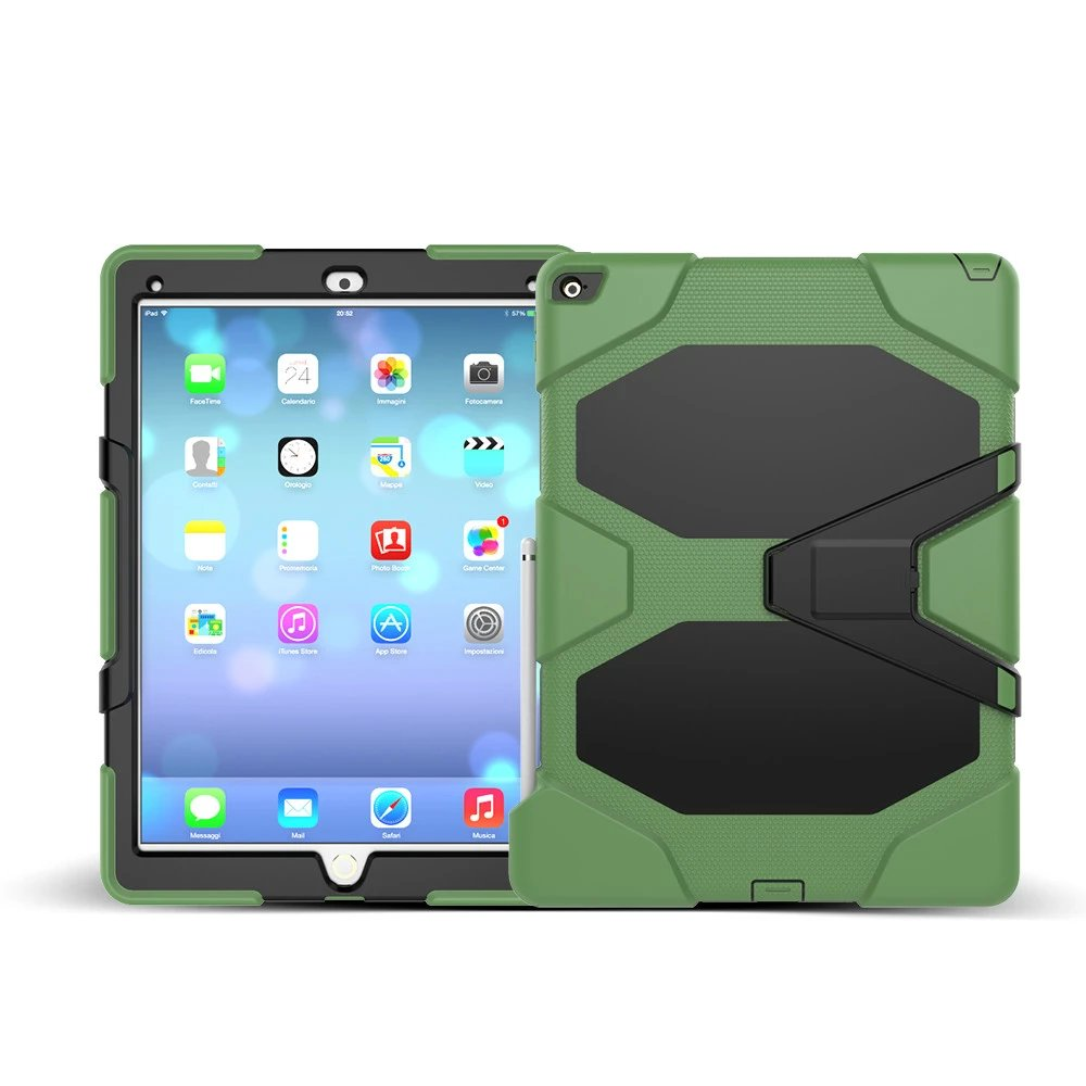 For Apple iPad Pro 12.9 Case Cover Tablet Silicone PC Hybrid Rugged Military Shockproof Dustproof Cover for ipad pro 12.9 case for ipad pro 12 9 case tablet cover shockproof heavy duty protect skin rubber hybrid cover for ipad pro 12 9 durable 2 in 1