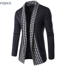 FGKKS 2017 Hot Sale Brand-Clothing Spring Cardigan Male Fashion Quality Cotton Sweater Men Casual Mens Sweaters Free Shipping