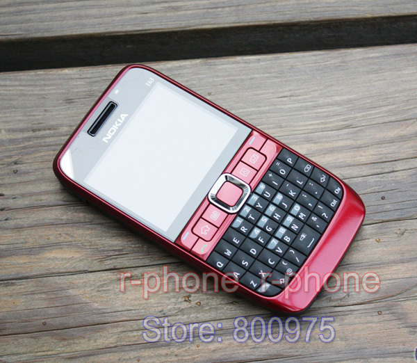 Image 3 - 100% Original NOKIA E63 Mobile Phone 3G Wifi Bluetooth QWERTY Keyboard Unlocked E63 RED & One year warranty-in Cellphones from Cellphones & Telecommunications