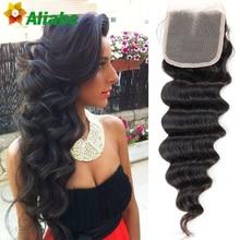 Stema Hair Frontal Peruvian Loose Wave Closure 7a Peruvian Virgin Hair Closure Piece 3 Part Closure Lace Closure Loose Wave 4×4