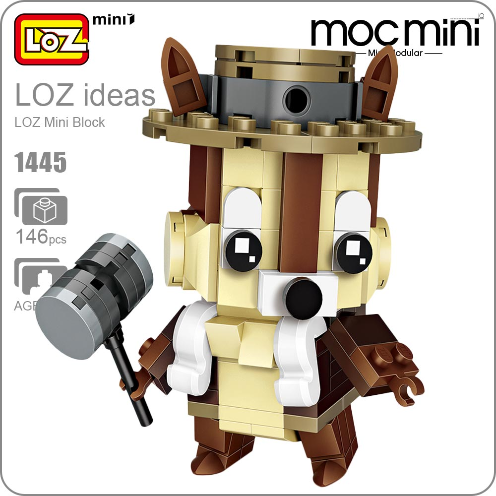 LOZ  Mini Blocks Brick Toy for Children Gift Cartoon Squirrel Action Figure Model Animal Toys Building Blocks Educational 1445 20pcs 1lot petshop cartoon pet shop patrulla canina toys action figure toy 778 minifigure christmas gift to kids