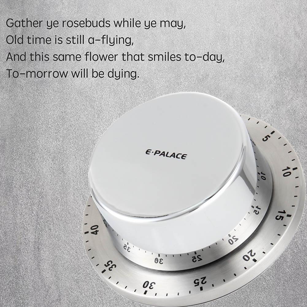 Küche Kochen Timer Mit Magnet Manuelle Lauter Alarm Sound Home Backen Waschen Mechanische 60 Minuten Countdown-Timer E2S