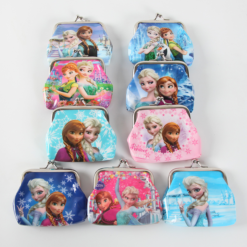 1pc PVC Cartoon Girl Coin Purses Child Change Purse Students Wallet Kids Birthday Party Gifts Favo Princess Frozen Sofia