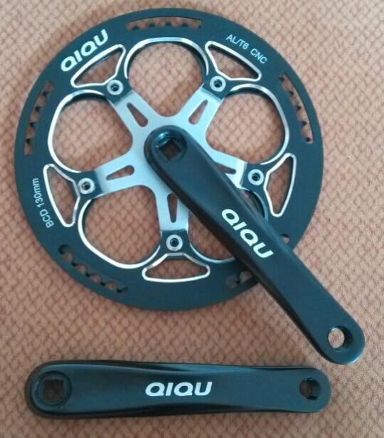ФОТО QIQU brand fold bike cicy bike 170mm 52t ALUMINUM cnc chainwheel crankset