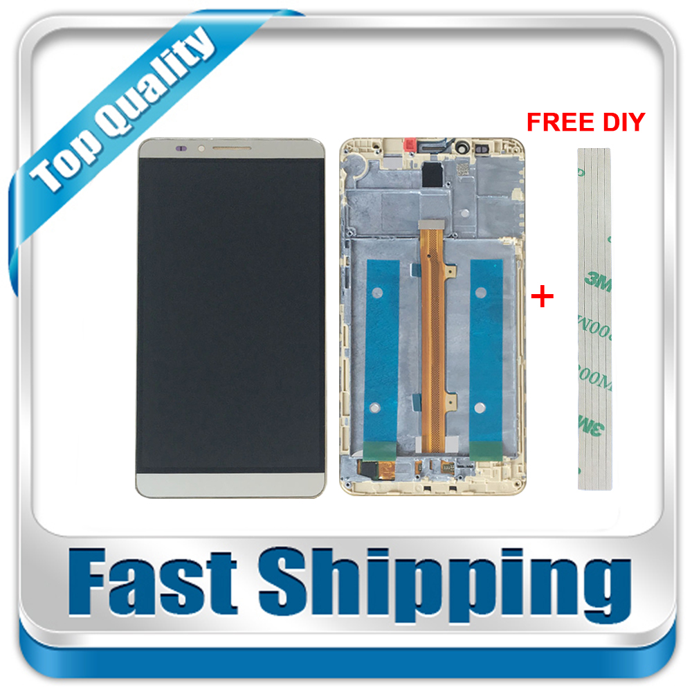 New For Huawei Ascend Mate 7 MT7-L09 MT7-CL00 Replacement LCD Display + Touch Screen + Frame Assembly 6-inch Black White Gold