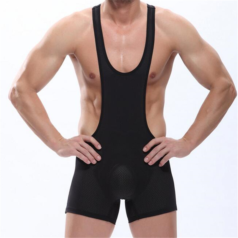 Men's Sexy Singlet Stretch Good Quality Breathable Mesh Underwear,Jumpsuit Bodysuit,Men's Underwear