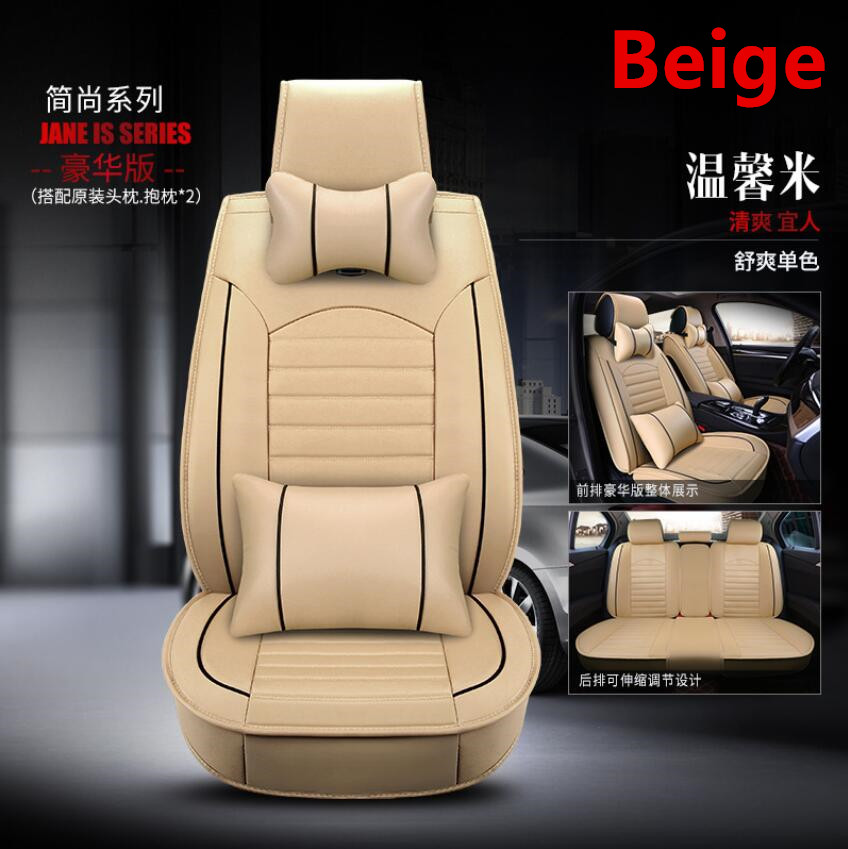 À prova dwaterproof água tampas de assento de carro universal couro do plutônio auto almofada do assento da frente protetor esteira caber a maioria dos acessórios do carro interior - 6
