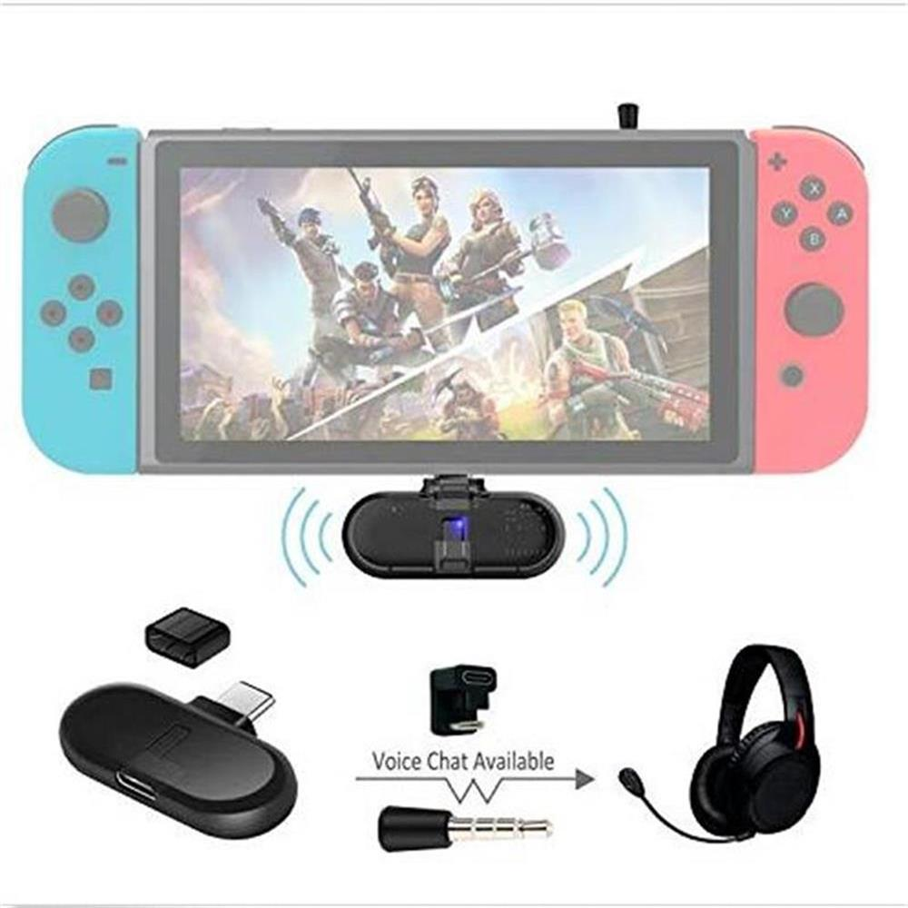 Gulikit Route + PRO Wireless CSR Bluetooth 2.1 + EDR Type-C USB Adapter Audio Transmitter Transceiver For Nintendo Switch