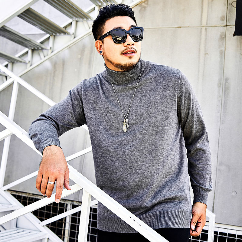 2019 New Large Size Men's Sweater Autumn And Winter Sweater  High Collar Sweater Warm Clothes More Size XL-4XL 5XL 6XL