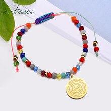 Nextvance – Bracelet perlé bohème, cordon élastique ajustable, vierge marie, pour femmes
