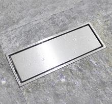 Shower Drain 304 Stainless Steel Deodorization And Anti Blocking Rectangular Floor Drain(size:110mmX285mm)
