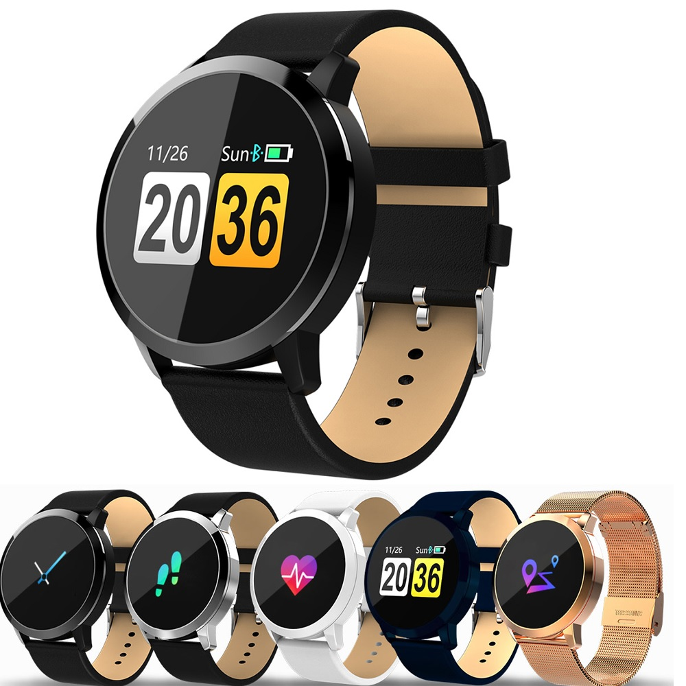Newwear Q8 Smart Watch Touch Screen Heart Rate Wristband Men Women IP67 Waterproof Sport Fitness Wearable Devices Electronics