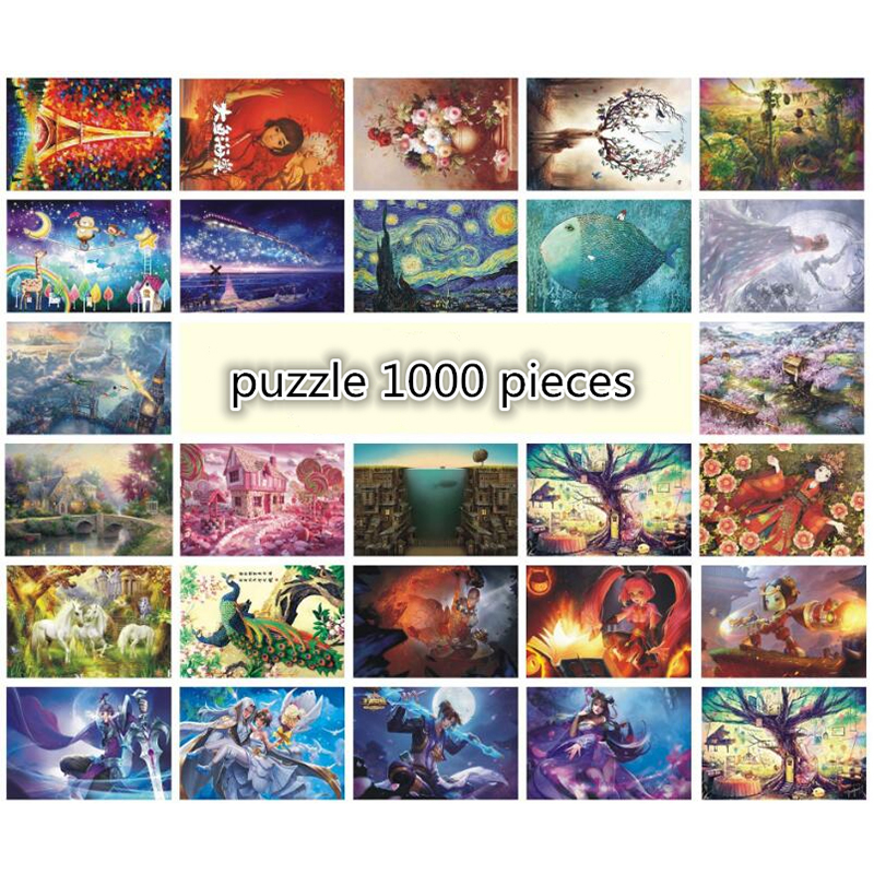 Landscape  puzzle 1000 pieces ersion wood puzzle jigsaw puzzle white card adult children's educational toys puzzle game toys