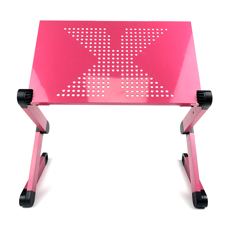 Folding Portable Laptop Stand Viewing Angle/Height Adjustable Aluminum Alloy(China)