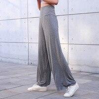 Женские широкие брюки из модала, повседневные мягкие брюки с высокой талией и высокой талией на весну-лето 2019