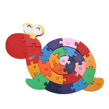 Kids Educational Toys For Children Brain Game Winding Snail Wooden Toys Tetris 3D Puzzles Wood Toy Madeira Jjigsaw Puzzles