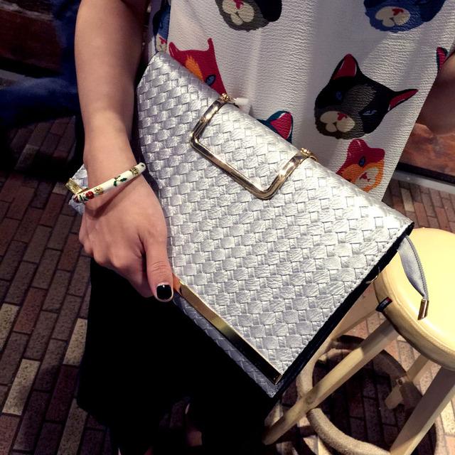 Luxury Handbags Women Bags Designer 2018 Fashion European Woven Bag Envelope Bag Women Day Clutch Evening Bags Handbag Mujer