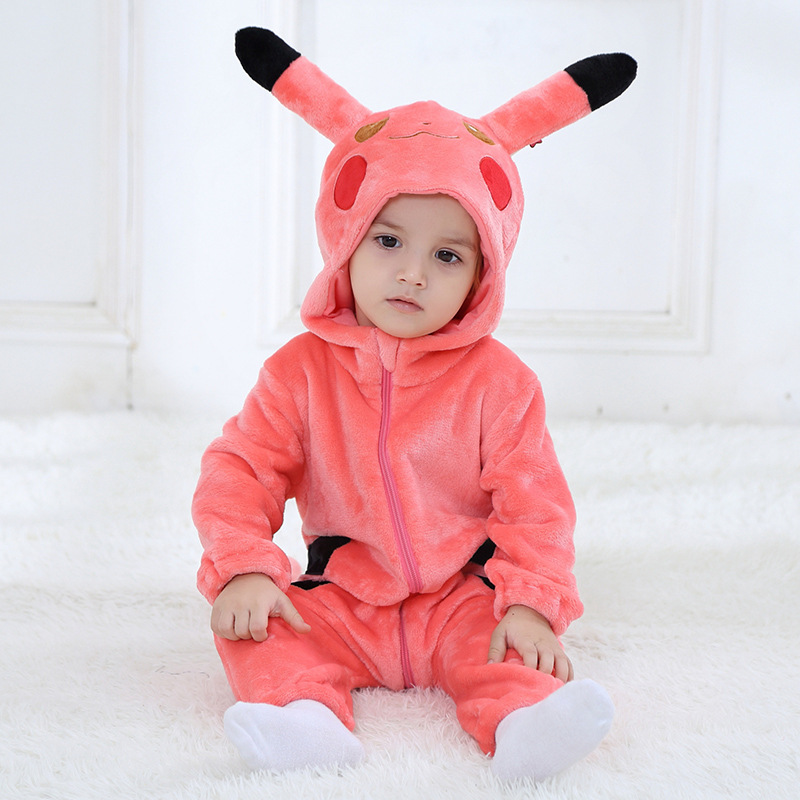 Spider-Man For pikachu Kigurumi baby Kids Cartoon Animal Cosplay Costume Warm Soft Flannel Fancy Onesie Cute Pajama Body Suit