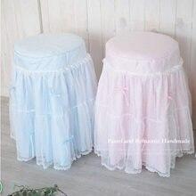 Nuevo estampado vintage taburete de tocador cubierta de Banco fundas de silla cojín decoración de boda hogar textil decoración tamaño personalizado