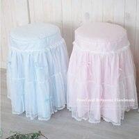 New vintage print spogliatoio sgabello panca sedia copertura copre cuscino decorazione di cerimonia nuziale tessili per la casa decorazione formato su misura